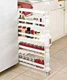 Slim Can and Spice Racks (White)