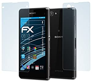atFoliX Sony Xperia Z1 Compact Protecteur d'Écran - Set de 3 - FX-Clear ultra claire