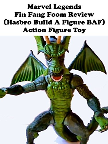 Marvel Legends FIN FANG FOOM review (Hasbro build a figure BAF) action figure toy