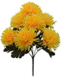 Fourwalls Artificial Chrysanthemum Flower Bouquet (36 cm, Yellow)