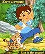 "Go Diego Go! The Rescuer Fleece Throw Blanket Forest 50"" X 60"""