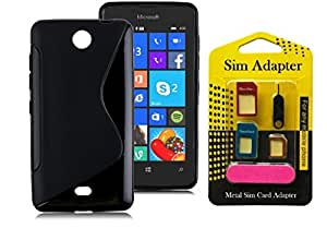 Wellmart Grip Back Cover For Nokia Lumia 432 Combo Offer Free 5 In 1 Metal Sim Card Adapter