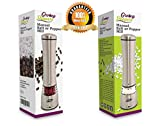 Salt or Pepper Grinder - High Quality Stainless Steel, Acrylic Manual Spice Mill, Ceramic Mechanism