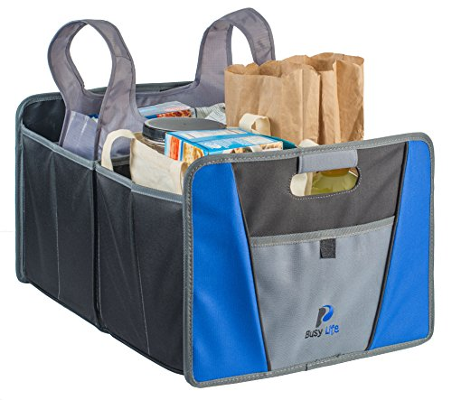 Busy Life Premium Trunk Organizer, Fantastic Way to Keep your Vehicle Clean and Organized, Sleek and Modern design is an Attractive Accessory to your Vehicle, Enhance your Driving Experience TODAY. (Truck Bed Grocery Holder compare prices)