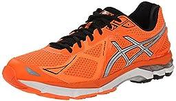 ASICS Men\'s GT 2000 3 Running Shoe, Hot Orange/Silver/Black, 11.5 M US