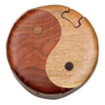 Yin & Yang - Secret Handcrafted Wooden Puzzle Box