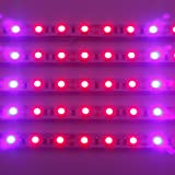 [Pack of 5] Lvjing® 2015 New 0.5m/strip 5W Led Grow Light Bar Flexible Soft Strip Light 30pcs 5050smd 25Red + 5Blue DC 12V for Indoor Plants Garden Greenhouse Hydroponic System Kit