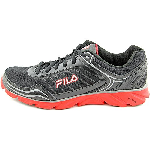Fila Men's Memory Fresh 2 Running Shoe, Black/Fila Red/Metallic Silver, 11 M US
