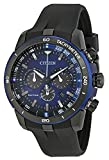 CITIZEN シチズン CA4155-12L Ecosphere Eco-Drive Chronograph Blue Dial Black Polyurethane Men's Watch 男性用 メンズ 腕時計 [並行輸入品]