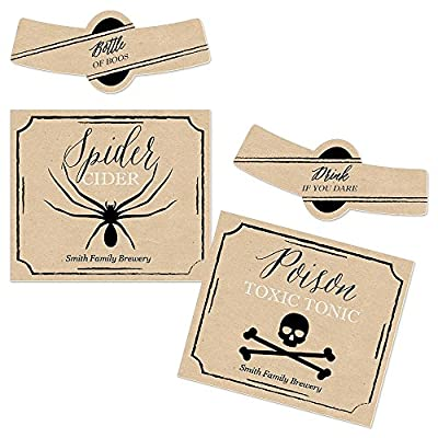 Happy Halloween - Halloween Personalized Beer Bottle Label Stickers - Set of 6