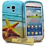 Accessory Master Coque en silicone pour Samsung Galaxy S III Mini i8190 Motif Star Fish fleur