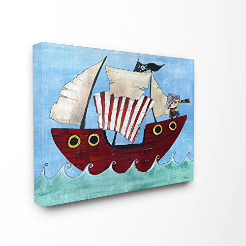 The Kids Room by Stupell Pirate Ship at Sea Canvas Wall Art