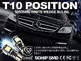 ベンツ W638 W639 W245 W168 W209 ホワイト T10 LEDポジション球 ウェッジバルブセット キャンセラー内臓 COBRA製