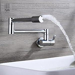 Aquafaucet Brass Kitchen Wall Mount Single Handle Pot Filler Faucet