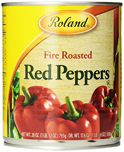 Roland Fire Roasted Peppers, Red, 28 Ounce (Pack of 4) (Roasted Red Peppers In Water compare prices)