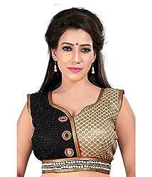Pushkar Sarees Women's Silk Blouse (Pushkar Sarees_98_Multi-Coloured_Free Size)