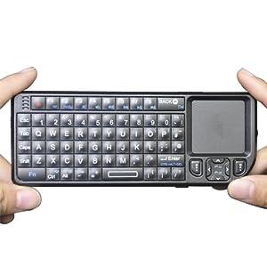 Rii Wireless Bluetooth Blacklit Mini PC Keyboardwith touchpad for Windows XP Vista Windows 7 MAC iPhone 3 iPhone 4 iPhone 4s iPad 2 iPad 3 new iPad Android Samsung Galaxy S i9000 i9001 Samsung Galaxy S2 i9100 HTC-- UK Keyboard Layout