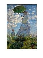 Especial Arte Lienzo Donna con ombrello Multicolor