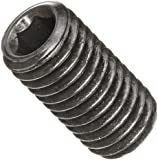 Alloy Steel Set Screw, Black Oxide Finish, Hex Socket Drive, Flat Point, Meets DIN 914, Right Hand Threads, Metric