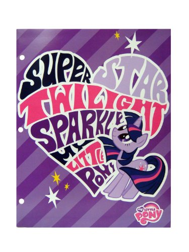 My Little Pony ~ Two Pocket Folders Featuring Super Star Twilight Sparkle and Rainbow Dash - 1