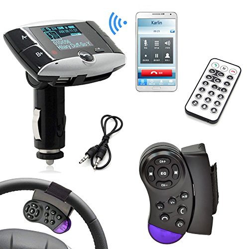 Car MP3 Player FM Transmitter with Steering Wheel Controller LCD Display for SD Card/ USB Stick / Mp3 Players FM Modulator Car Audio With Remote Control (Modulator Steering Wheel compare prices)