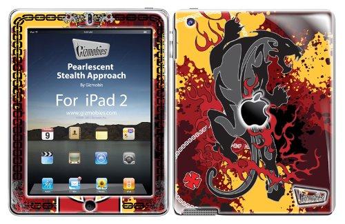 Gizmobies 010894 iPad 2 / iPad 3 / iPad 4 - Design Schutzhülle Skin Cover - Pearlescent Stealth Approach (Silver) mit Glitzereffekt