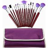 HIGHROCK 16pc Professional Cosmetic Makeup Brush Brushes Set Kit (Purple Bag...