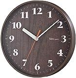 Felio(フェリオ) 壁掛け時計 アスナロ ステップ秒針 ブラウン FEW173BR