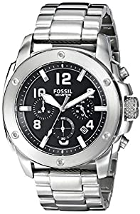 Fossil Men's FS4926 Analog Display Quartz Silver Watch