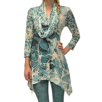 ff03b055f8227 AMMA Design Women's Printed Tunic - douglaskingstephanie