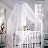 Baby Mosquito Net Baby Toddler Bed Crib Canopy Netting White