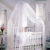 Beautiful Baby Mosquito Net Baby Toddler Bed Crib Canopy Netting White review