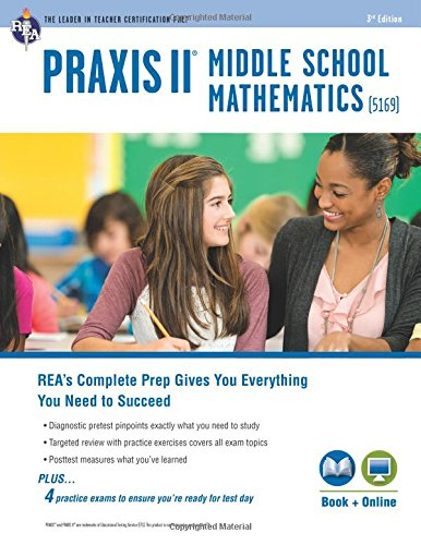 PRAXIS II Middle School Mathematics (5169) Book + Online (PRAXIS Teacher Certification Test Prep) clock table model teacher demonstration with primary school mathematics science and education equipment three needle linkage