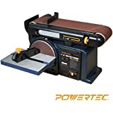 POWERTEC BD4600 Woodworking Belt Disc Sander, 4 x 6-Inch