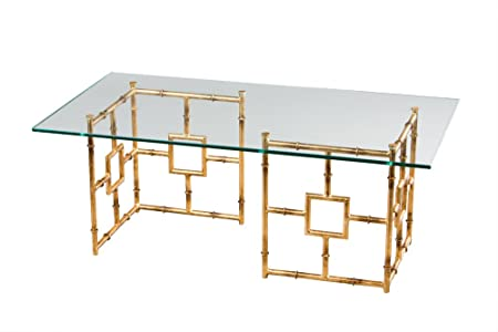 Glass Top Bamboo Float Coffee Table