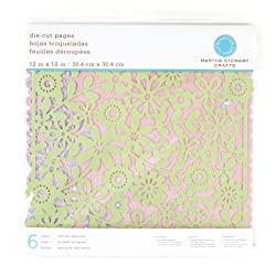 Martha Stewart Crafts Die-Cut Pages 12'' X 12'' Glitter By The Package