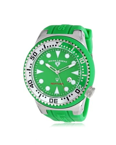 Swiss Legend Men's 21818D-08-GS Neptune Green Silicone Watch
