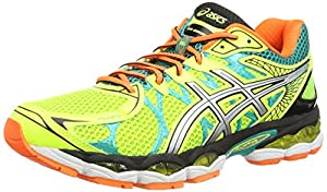 Asics Gel-Nimbus 16, Herren Laufschuhe Training, Gelb (Flash Yellow/Silver/Emerald Green 793), EU 47