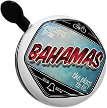 Bicycle Bell Greetings from Bahamas Vintage Postcard by NEONBLOND