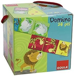 Goula - 53416 - Jouet Premier Age - Domino Carré Animaux