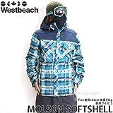 WESTBEACH(ウエストビーチ) メンズ ウェア MOLSON SOFTSHELL ソフトシェル 15-16 SEAWEED PLAID/XL