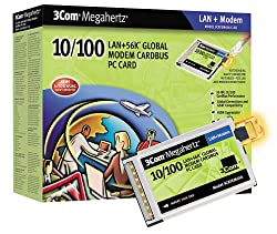 3Com 56K 10/100Mbps Dual Xjack Ethernet Global Modem Card