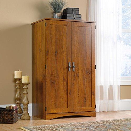 New Wood Dresser Wardrobe Cabinet Aldwyche Computer Desk Armoire Storage Bedroom Office Furniture Organizer (Computer Cabinets compare prices)