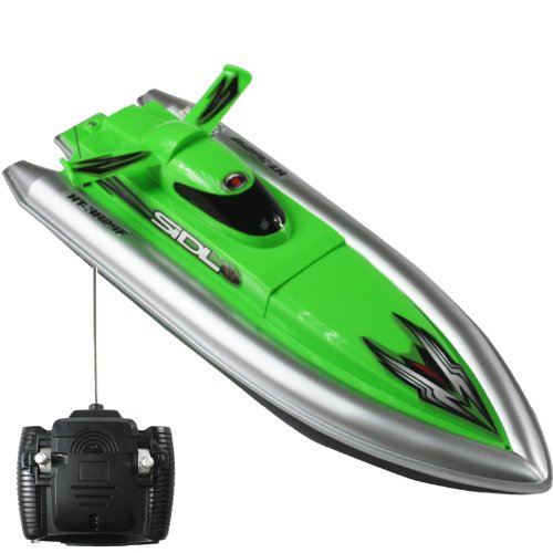 "Green Mini Tracer 12"" RC Speed Boat Radio Control Electric Powered Racing Ship"