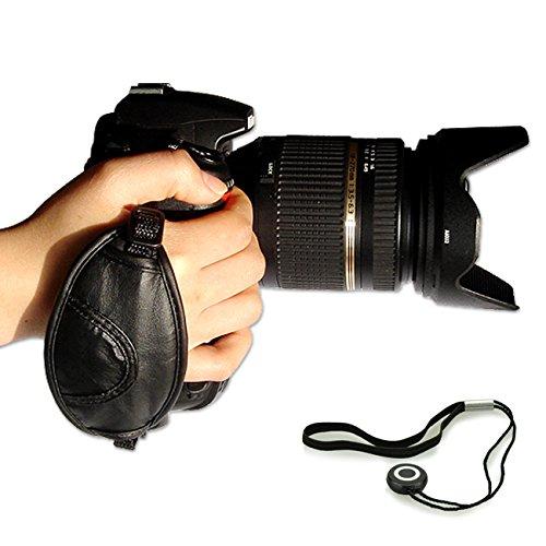 First2savvv OSH0201G14 neue Leder-Digitalkamera SLR Handschlaufe Grip für Nikon D4S SONY A77 II SAMSUNG Galaxy NX WB1100F NX1 NX30 panasonic LUMIX DMC-FZ1000EB DMC-FZ200 LUMIX DMC-FZ70 Sony Alpha 77 M2 DSLR ILCA-77M2 Alpha 77 M2 DSLR ILCA-77M2Q a7S ILCE-7S PENTAX K-r Pentax K-30 K-5 II K-5 Iis K-500 K-50 K-3 X5 645D 645 Z Canon EOS 7D Mark II PowerShot SX60 HS EOS 7D Mark II PowerShot SX60 HS Nikon D750 mit Objektivdeckel Seil