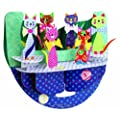 Santoro Interactive 3-D Popnrock Greeting Card, Cats In Bowties (SPR009)