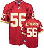 NWT Kansas City Chiefs #56 DERRICK JOHNSON NFL Replica Mens Home Jersey Medium
