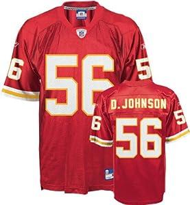 NWT Kansas City Chiefs #56 DERRICK JOHNSON NFL Replica Mens Home Jersey X-Large by Reebok