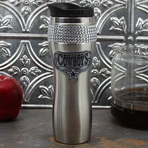 Nfl Dallas Cowboys 16-Ounce Stainless Steel Bling Tumbler