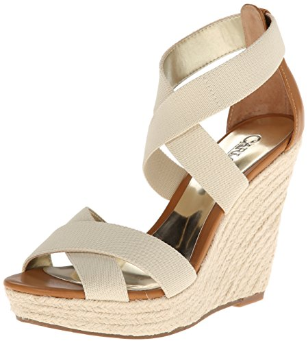 Carlos By Carlos Santana Women'S Maite Wedge Sandal,Bone,8.5 M Us front-723950